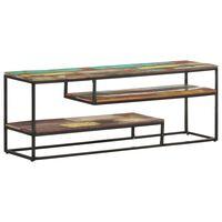 vidaXL Tv-meubel 130x30x45 cm massief gerecycled hout
