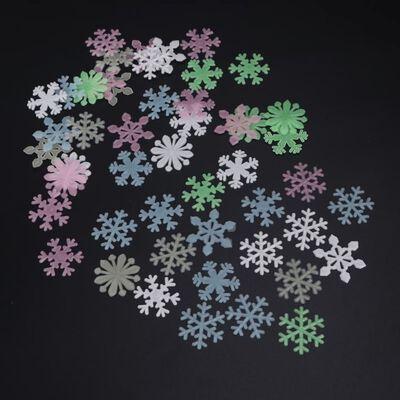 Lichtgevende Sneeuwvlokken 50 Stickers Kleurenmix