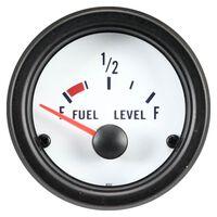 AutoStyle brandstofmeter 52 mm 12 Volt wit/zwart