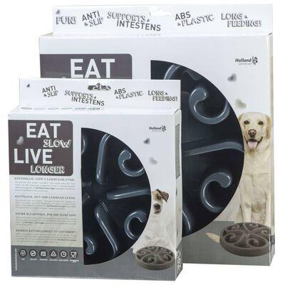 EAT SLOW LE LONGER Slowfeeder Original S grijs