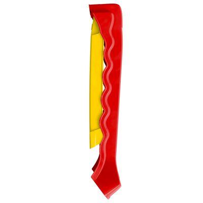 vidaXL Glijbaan voor kinderen inklapbaar rood en geel