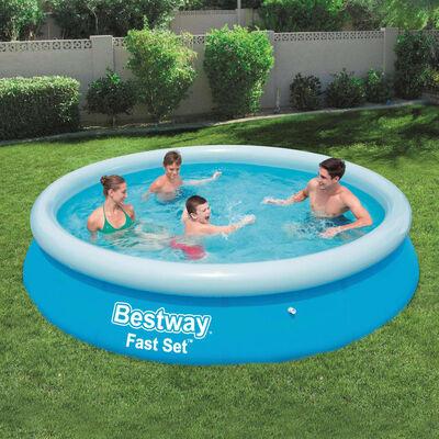 Bestway Zwembad Fast Set opblaasbaar rond 366x76 cm 57273 ,