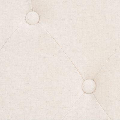 vidaXL Bankstel 2+1 stof crèmewit 2-delig