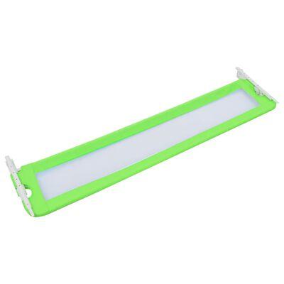 vidaXL Bedhekje peuter 180x42 cm polyester groen