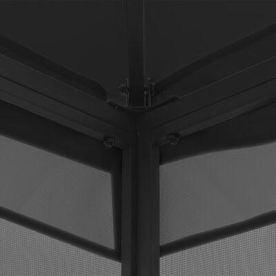 vidaXL Prieel met gordijnen 300x400x265 cm antraciet