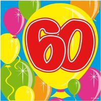 40x 60 jaar leeftijd themafeest servetten Balloons 25 x 25 cm papier