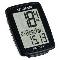 Sigma Fietscomputer BC 7.16 zwart 7160