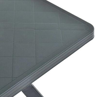 vidaXL Bistrotafel 70x70x72 cm kunststof antraciet
