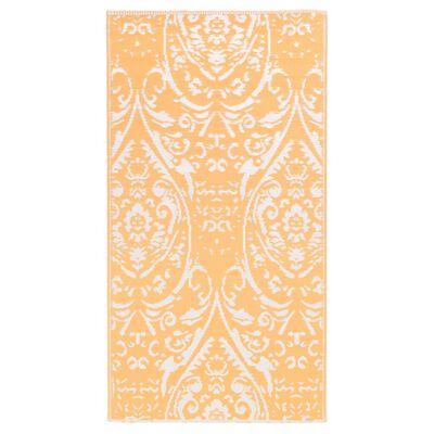vidaXL Buitenkleed 160x230 cm PP oranje en wit