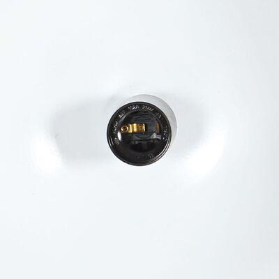 vidaXL Hanglamp industrieel rond 25 W E27 32 cm mangohout zwart