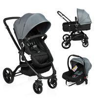 Little World 3-in-1 Kinderwagen City Walker grijs en zwart