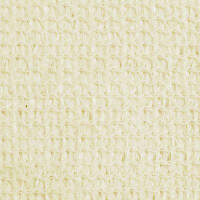 vidaXL Zonnezeil 160 g/m² 4,5x4,5 m HDPE crèmekleurig