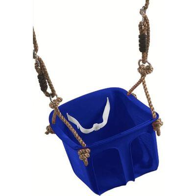 Baby/dreumes/peuter schommel blauw 32 cm - Buitenspeelgoed -