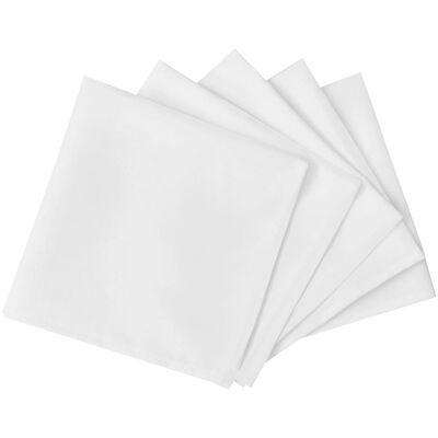 Servetten wit 25 stuks 50 x 50 cm, Wit