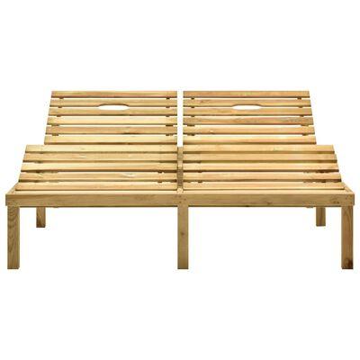 vidaXL Ligbed tweepersoons met taupe kussens geïmpregneerd grenenhout