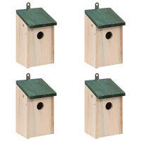 vidaXL Vogelhuisjes 4 st 12x12x22 cm hout