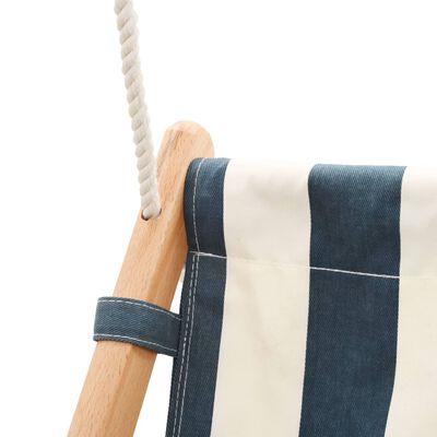 vidaXL Babyschommel met veiligheidsgordel katoen hout blauw