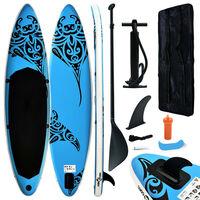 vidaXL Stand Up Paddleboardset opblaasbaar 320x76x15 cm blauw