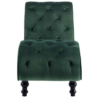 vidaXL Chaise longue fluweel groen