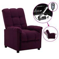 vidaXL Electric Recliner Purple Fabric (289803+327254)