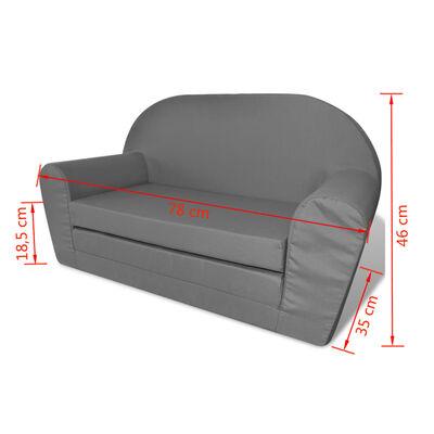 vidaXL Loungestoel voor kinderen uitklabaar grijs