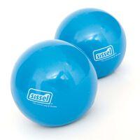 Sissel Pilates toning ballen 450 gr blauw 2 st SIS-310.037