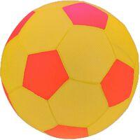 Free and Easy speelgoedvoetbal mesh geel 30 cm