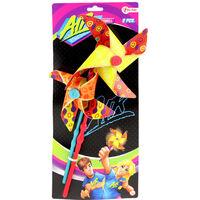 Toi-Toys windmolens  Ø18 en Ø15 cm 2 stuks geel/oranje
