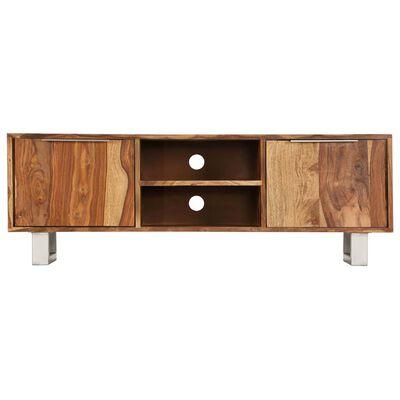vidaXL Tv-meubel 118x30x40 cm sheeshamhout met honing afwerking