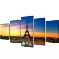 Canvasdoeken Eiffeltoren 100 x 50 cm