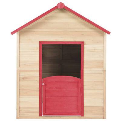 vidaXL Kinderspeelhuis vurenhout rood