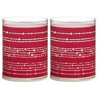 Bolsius 6 st Sparkle Lights Ribbon rood 103622396741