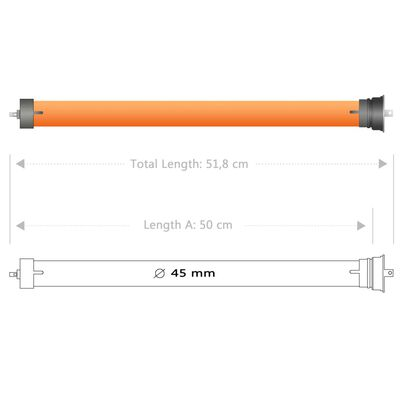 vidaXL Buismotoren 8 st 40 Nm