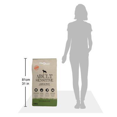 vidaXL Premium hondenvoer droog Adult Sensitive Lamb & Rice 15kg
