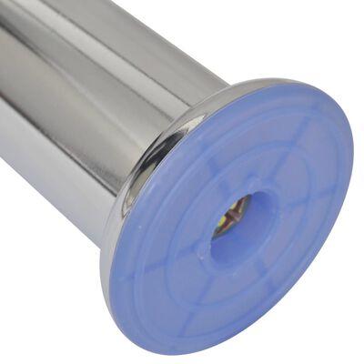 vidaXL Bankpoten 8 st rond 120 mm chroomkleurig