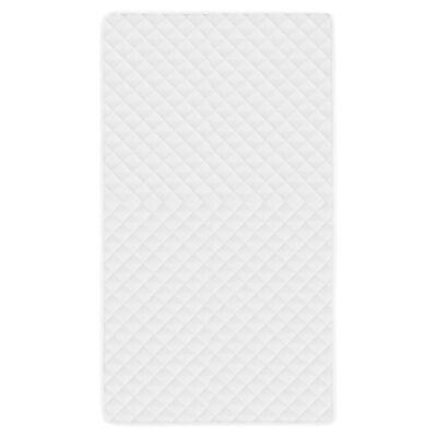 vidaXL Matrasbeschermer gestikt licht 140x200 cm wit,