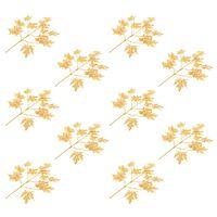 vidaXL Kunstbladeren esdoorn 10 st 75 cm goud