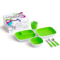 Munchkin 7-delige Eetset Color Me Hungry groen