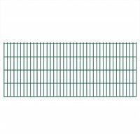 vidaXL Dubbelstaafmatten 2,008x0,83 m 12 m (totale lengte) groen