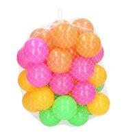 80x Ballenbak ballen neon kleuren 6 cm - Speelgoed - Ballenbakballen