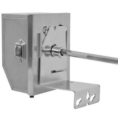 vidaXL BBQ Draaispit met professionele motor staal 1200 mm