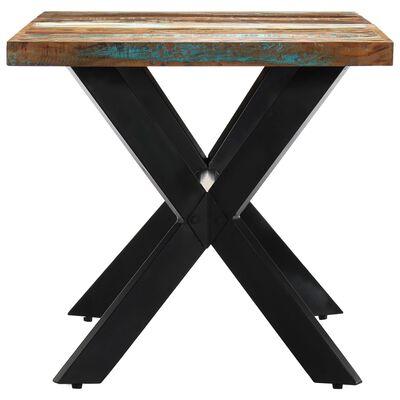 vidaXL Eettafel 160x80x75 cm massief gerecycled hout