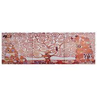 vidaXL Wandprintset boom 120x40 cm canvas geel
