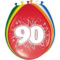 24x stuks Ballonnen versiering 90 jaar