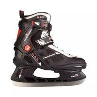 Nijdam Ijshockeyschaatsen Semi Softboot Zwart/Rood Maat 38