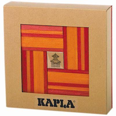 Kapla Houten plankjes set rood en oranje 40 st KAPL172106,