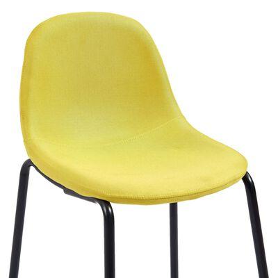 vidaXL Barstoelen 2 st stof geel
