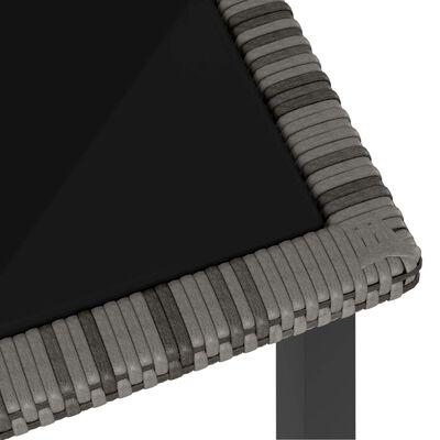 vidaXL 5-delige Tuinset poly rattan grijs