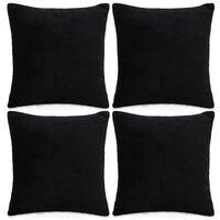 vidaXL Sierkussenhoezen 50x50 cm velours zwart 4 st