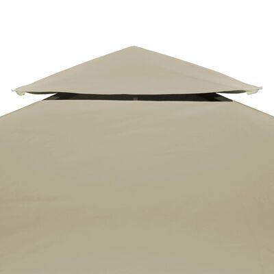 vidaXL Vervangend tentdoek prieel 310 g/m² 3x4 m beige